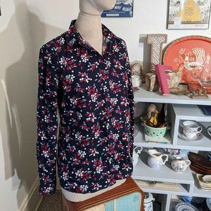 Berry Navy 6 Tall Lands' End Blouse